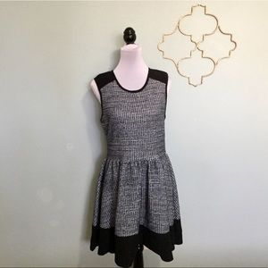 ASOS blue tweed dress, zip back
